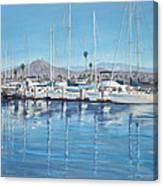 Ventura Harbor Morning Light Canvas Print