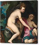 Venus And Adonis Canvas Print