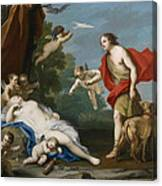 Venus And Adonis Canvas Print