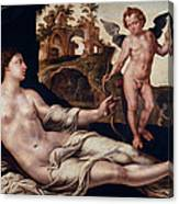 Venus And Amor Canvas Print