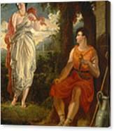 Venus And Anchises Canvas Print