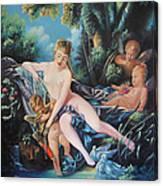 Venus Disarming Cupid Canvas Print