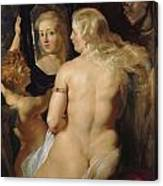 Venus In A Mirror Canvas Print
