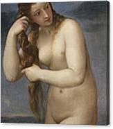 Venus Rising From The Sea Canvas Print