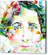 Vera Brittain - Watercolor Portrait Canvas Print