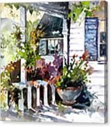Veranda Shadows Canvas Print