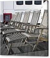 Verandah Seating 02 Queen Mary Ocean Liner Long Beach Ca Canvas Print