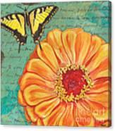 Verdigris Floral 1 Canvas Print
