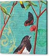 Verdigris Songbirds 2 Canvas Print