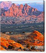 Vermillion Cliffs At Sunrise Canvas Print