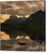 Vermillion Lake Sunset Canvas Print