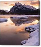 Vermillion Lakes In Banff National Park Canvas Print