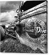 Vermin's Diner Rat Rod In Black And White Canvas Print