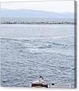 Vermont Boat Pier Canvas Print