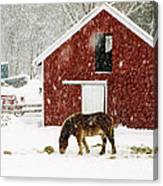 Vermont Christmas Eve Snowstorm Canvas Print
