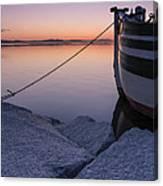 Vermont Lake Champlain Sunset Nautical Boat  Canvas Print