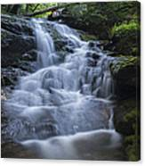 Vermont New England Waterfall Green Trees Forest Canvas Print