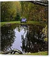 Vermont Pond In Autumn Canvas Print