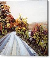 Vermont Road Canvas Print