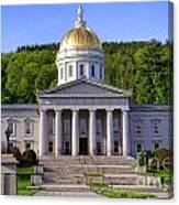 Vermont State Capitol In Montpelier  Canvas Print