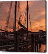 Vermont Sunrise Boats Pier Lake Champlain Canvas Print