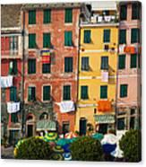 Vernazza Facades Canvas Print
