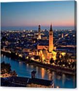 Verona At Sunset Canvas Print