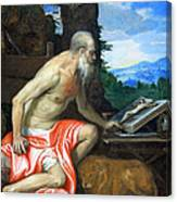 Veronese's Saint Jerome In The Wilderness Canvas Print