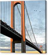 Verrazano Bridge At Sunrise - Verrazano Narrows Canvas Print