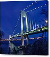 Verrazano-narrows Bridge At Night Canvas Print