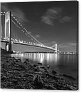 Verrazano-narrows Bridge Bw Canvas Print