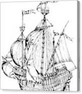 Verrazzano's Ship Canvas Print