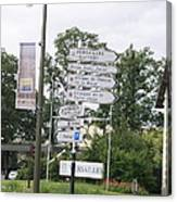 Versailles Crossroads Canvas Print