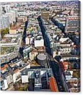 Vertical Aerial View Of Berlin Canvas Print