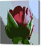 Vertical Rose Painting Style Canvas Print