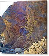 Vertical View Of Big Painted Canyon Trail In Mecca Hills-ca Canvas Print