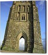 Vertical View Of Glastonbury Tor Canvas Print