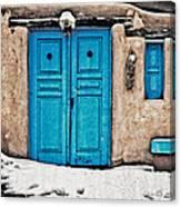 Very Blue Door Canvas Print