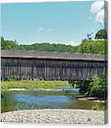 Very Long Covered Bridge Canvas Print