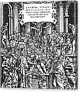 Vesalius Teaching Anatomy Canvas Print