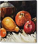 Vessel And Fruit Canvas Print