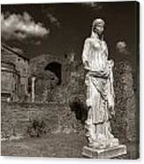 Vestal Virgin Courtyard Statue Canvas Print