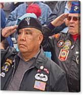 Veterans Saluting Passing Flag In A Parade Sacaton Arizona 2005-2013 Canvas Print
