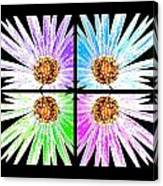 Vexel Flower Collage Canvas Print
