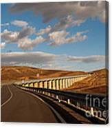 Viaduct In The Sicilian Countryside Canvas Print