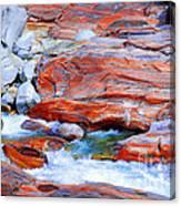Vibrant Colored Rocks Verzasca Valley Switzerland Canvas Print