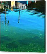 Vibrant Reflections -water - Blue Canvas Print