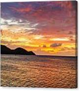 Vibrant Tropical Sunset Canvas Print