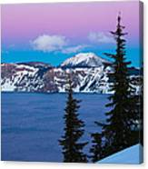Vibrant Winter Sky Canvas Print