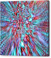 Vibrating Red And Blue Canvas Print